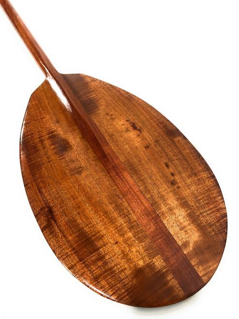 """Curly Decorative Koa Paddle 50"""" T-Handle - Made In Hawaii   #koa3045"""