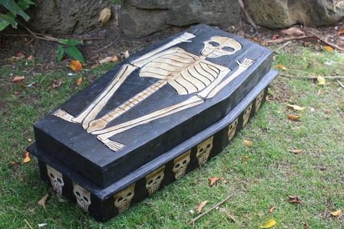 "Large Treasure Chest Box 24"" X 12"" - Cross Bones Accessories | #kng21067"
