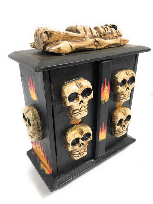 "Armoire w/ Flames 13"" X 11"" - Crossbones Decor 
