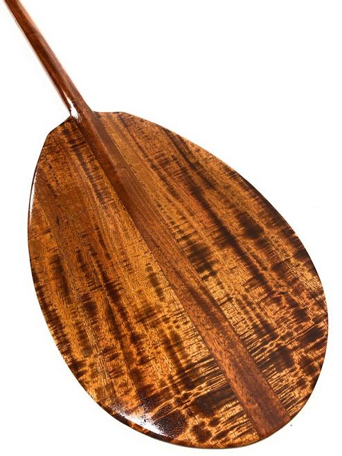 """AAA Premium Tiger Curls Koa Paddle 50"""" T-Handle - Made In Hawaii   #koa3640"""