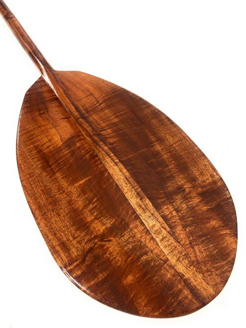 """Curly Hawaiian Koa Paddle 50"""" T-Handle - Made In Hawaii   #koa3248"""