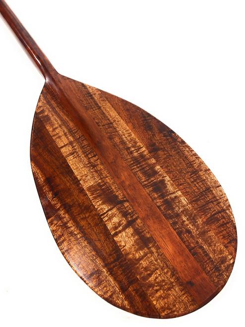 "Premium Burl Curl Koa Paddle 60"" Steersman w/ Inlays HI Built | #koa4263"