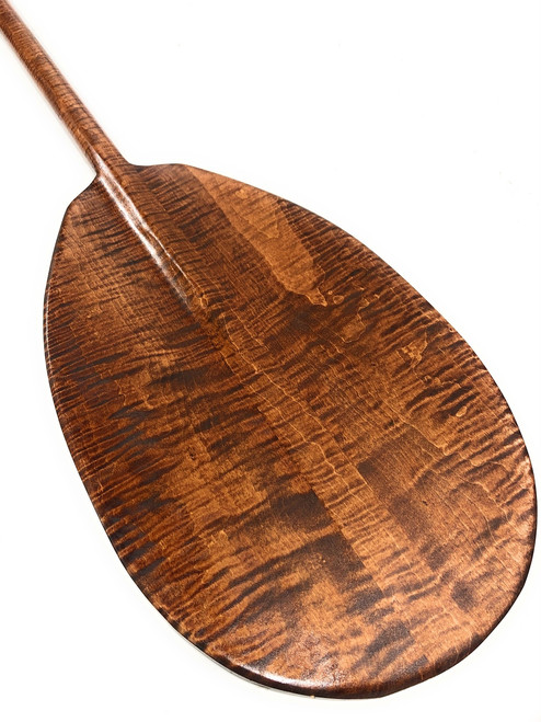 "Decorative Curly Hawaiian Paddle 50"" T-Handle | #koa4470"