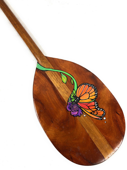 "Custom Painted Koa Paddle 36"" Design #10 by C. Wilcox | #koa3499"