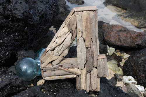 """""""4"""" Driftwood Number 10"""" Home Decor - Rustic Numerical 