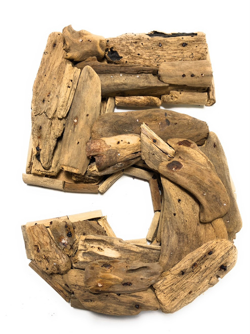 """""""5"""" Driftwood Number 10"""" Home Decor - Rustic Numerical 