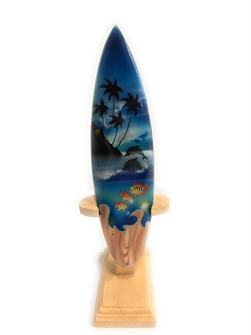"Surfboard w/ Stand Island Sealife Design 6"" - Trophy 