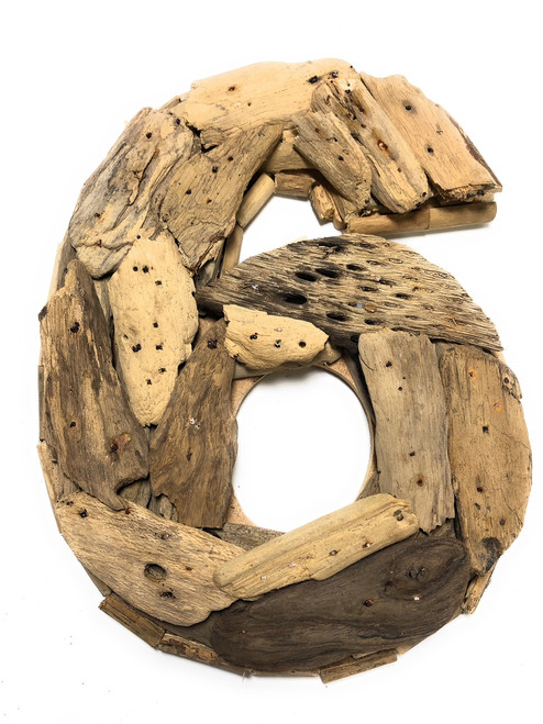 """""""6"""" Driftwood Number 10"""" Home Decor - Rustic Numerical 