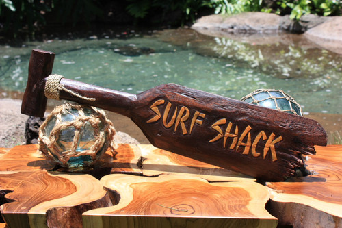 """Surf Shack"" Hanging Paddle - 20"" - Surf Decor 