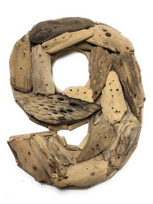 """9"" Driftwood Number 10"" Home Decor - Rustic Numerical 