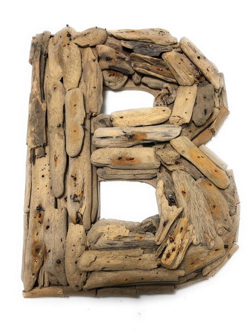 """B"" Driftwood Letter 10"" Home Decor - Rustic Accents 