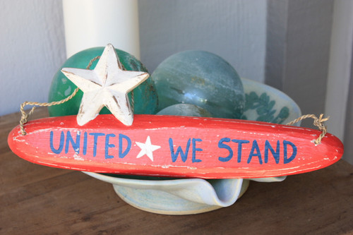 """United We Stand Americana Wooden Sign 14"""" - Texas Decor Accent   #ort17085a"""