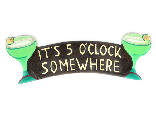 """It's 5 O'Clock Somewhere"" Tiki Bar Sign 