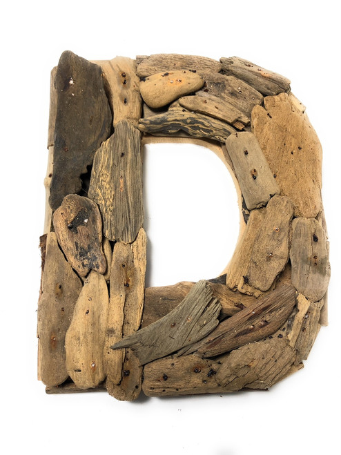"""D"" Driftwood Letter 10"" Home Decor - Rustic Accents 