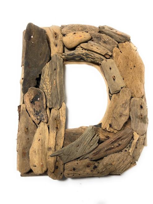 """D"" Driftwood Letter 10"" Home Decor - Rustic Accents | #lis31001d"
