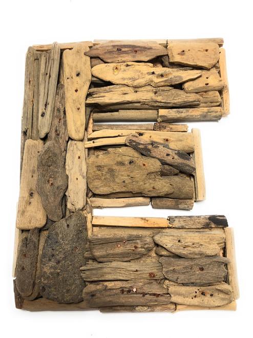 """E"" Driftwood Letter 10"" Home Decor - Rustic Accents   #lis31001e"