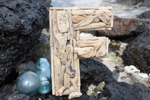 """F"" Driftwood Letter 10"" Home Decor - Rustic Accents 