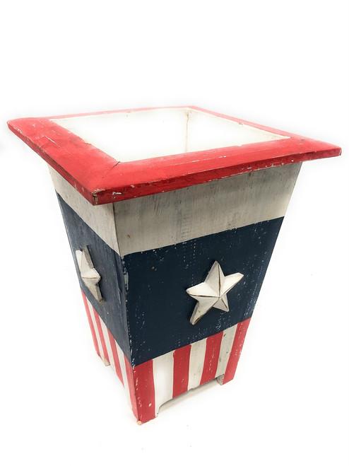"Planter/Waste Bin Americana Style 12"" Flower Pot - Texas Decor | #ort17089a"