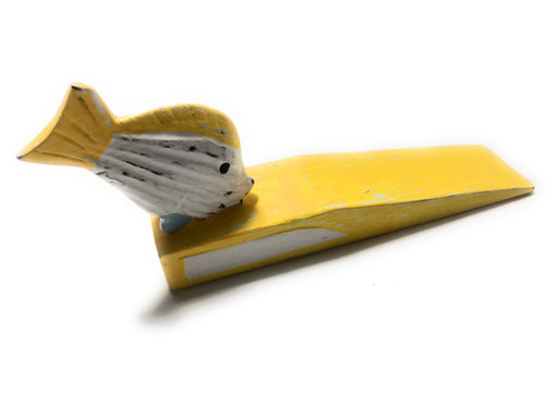 """Door Stopper w/ Fish 4"""" - Yellow Nautical Decor Accents   #ort1701410y"""