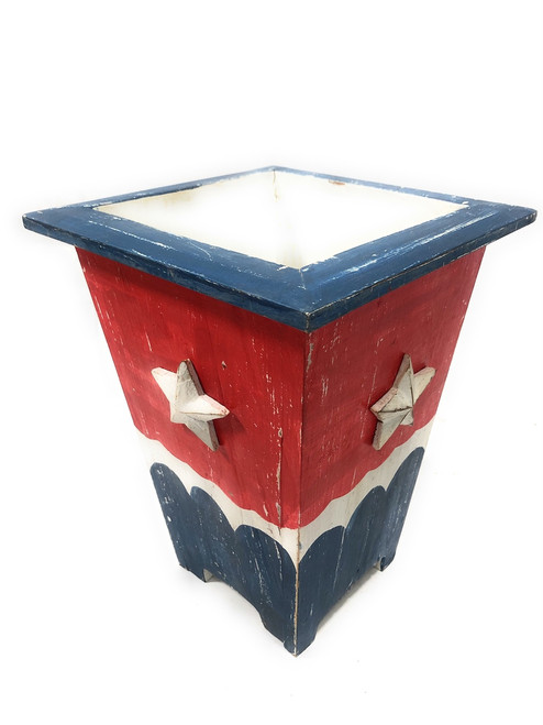 "lanter/Waste Bin Americana Style 12"" Flower Pot - Texas Decor 