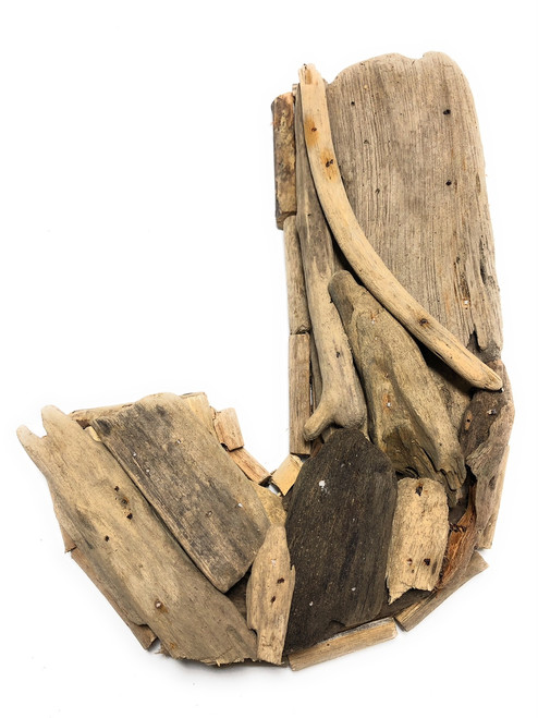 """J"" Driftwood Letter 10"" Home Decor - Rustic Accents 