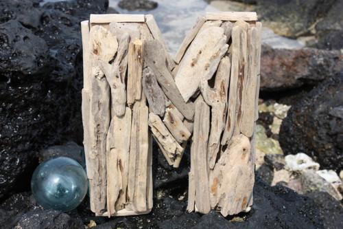 """M"" Driftwood Letter 10"" Home Decor - Rustic Accents | #lis31001m"