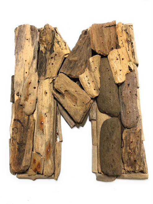 """M"" Driftwood Letter 10"" Home Decor - Rustic Accents 