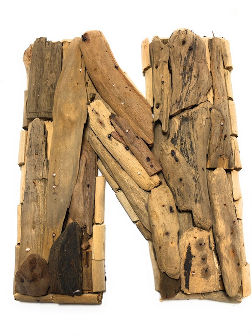 """N"" Driftwood Letter 10"" Home Decor - Rustic Accents 