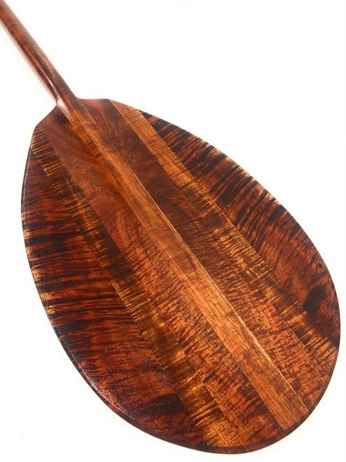 "Ultimate Burl Curl Koa Paddle 60"" Steersman Hawaiian Made | #koa4287"