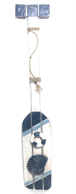 "Nautical Hanging Oar w/ Slats 40"" - Nautical Decor 