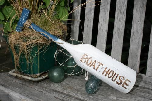 "Boat House Oar 22"" Wall Hanging - Rustic Blue Nautical Decor | #ort1701655b"