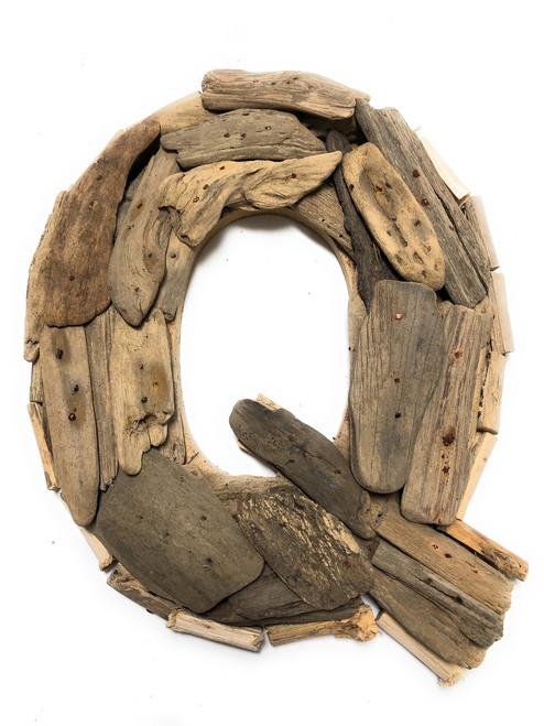 """Q"" Driftwood Letter 10"" Home Decor - Rustic Accents   #lis31001q"