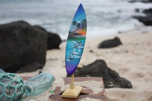 "Surfboard w/ Stand Island Lifestyle Design 8"" - Trophy   #lea02j20"