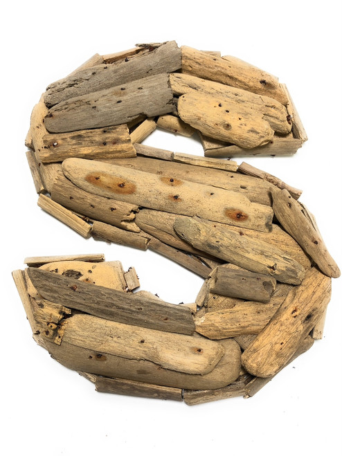 """S"" Driftwood Letter 10"" Home Decor - Rustic Accents 