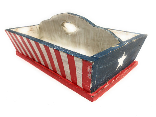 Flag Divider Tray 2-Compartment - Texas Americana Decor | #ort17094b
