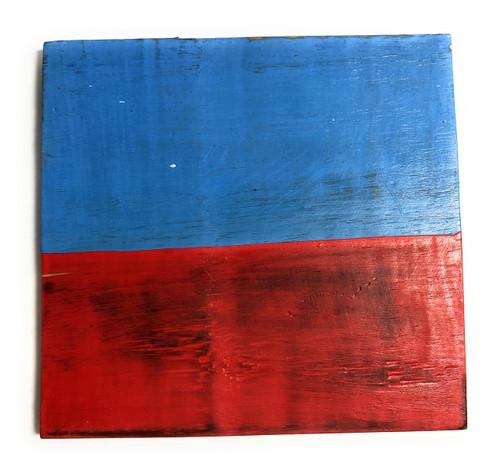 "E Nautical Alphabet Wooden Plaque 7"" X 7"" - Coastal Decor   #skn16017e"