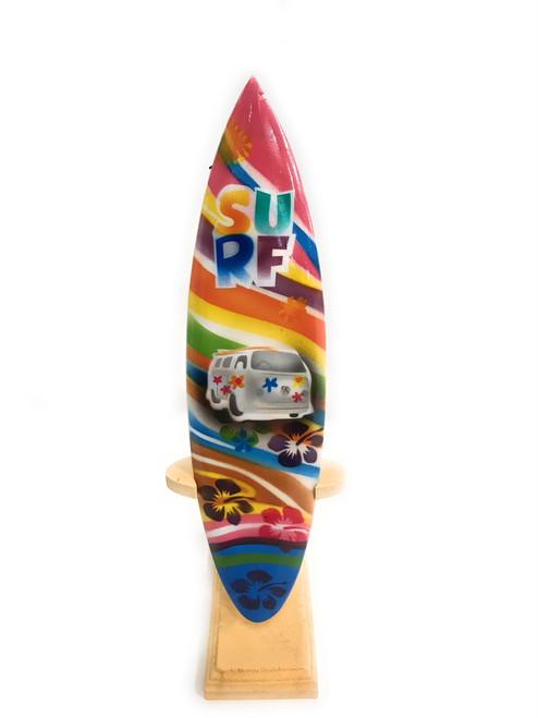 "Surfboard w/ Stand 70's VW Van Design 8"" - Trophy | #lea02m20"