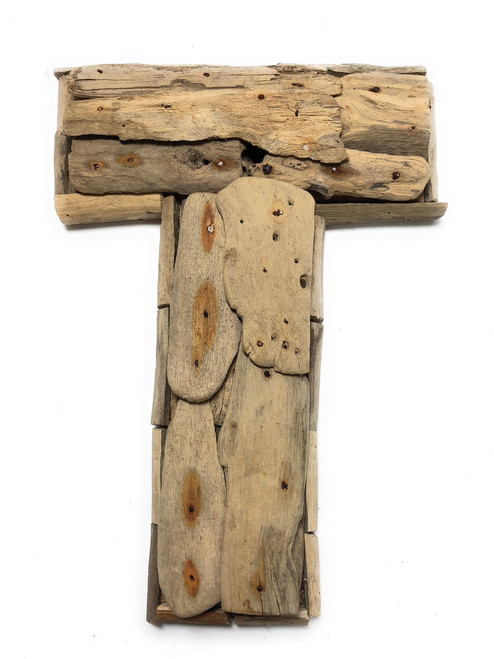 """T"" Driftwood Letter 10"" Home Decor - Rustic Accents 