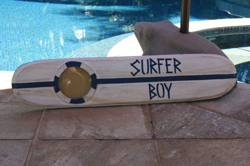 """Surfer Boy Nautical Sign w/ Built-In Photo frame 40"""" 
