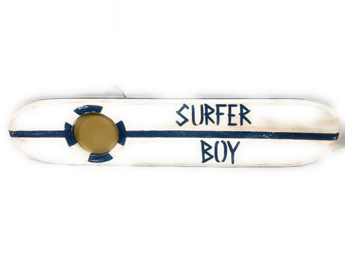 Surfer Boy Nautical Sign w/ Built-In Photo frame 40"
