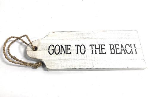 "Back In 5 Mins Door Tag Wood Sign 9"" - Rustic Coastal | #Snd25066"