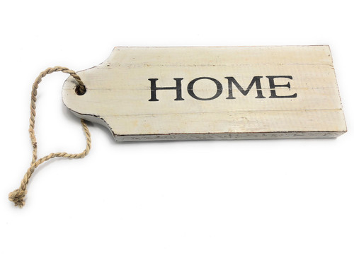 "Home Door Tag Wood Sign 9"" - Rustic Coastal 