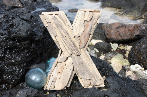 """X"" Driftwood Letter 10"" Home Decor - Rustic Accents 