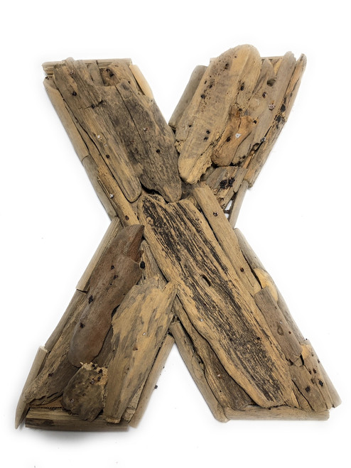 """""""X"""" Driftwood Letter 10"""" Home Decor - Rustic Accents 