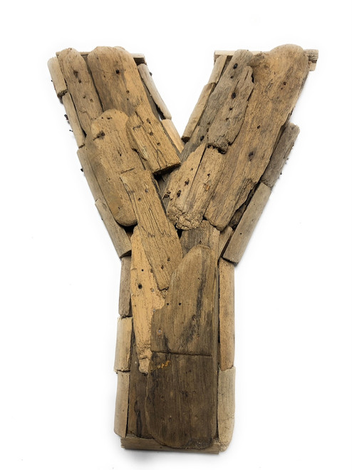 """Y"" Driftwood Letter 10"" Home Decor - Rustic Accents 