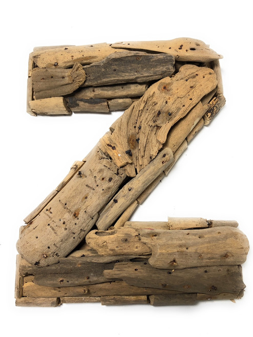 """Z"" Driftwood Letter 10"" Home Decor - Rustic Accents 