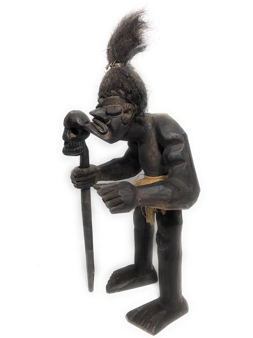 "Head Hunter Primitive Warrior w/ Skull 20"" - Tribal Art | #lge2400350"