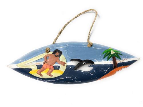 "Shark Bite Surfing Surfboard Sign - 12"" - Surf Decor | #snd2502130"