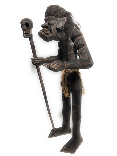 "Head Hunter Primitive Warrior w/ Skull 32"" - Tribal Art | #lge2400380"