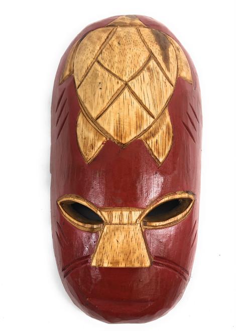 "Fijian Tiki Mask 12"" - Happiness - Oceanic Art | #mdr1900730"